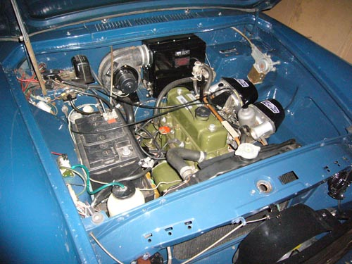 MGB engine in a Morris Oxford