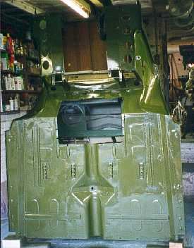 Underneath of the cab painted.