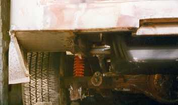 The rear pan cut out