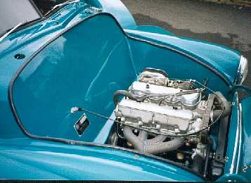 Engine bay.
