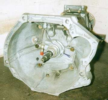 Inside of the bellhousing showing the release mechanism