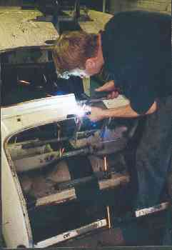 Robin welding in new rear section