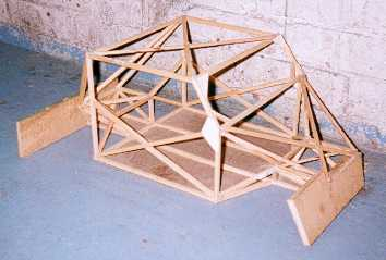 Final  chassis design wooden model