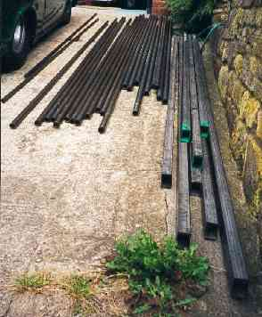 Lengths of steel for chassis