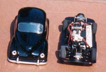 Chassis with the body along side.