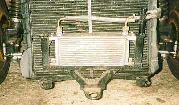 Front mounted oil cooler
