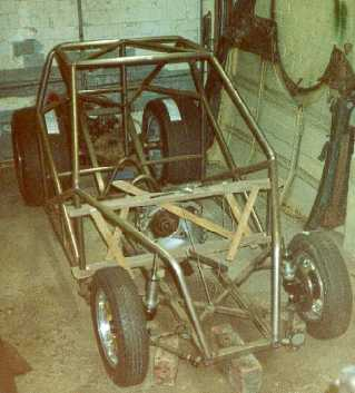 Chassis with wheels mocked up.