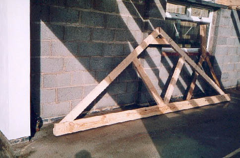 A roofing truss.