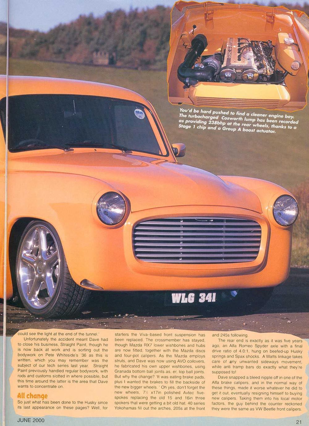 Hillman Husky Rapid Plumbing Custom Car magazine Article Page 2